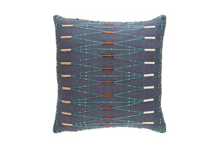 Accent Pillow-Navy Multi Zig Zag 22X22