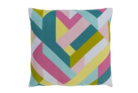 Accent Pillow-Seraphina Woven Geo Bright Multi 18X18