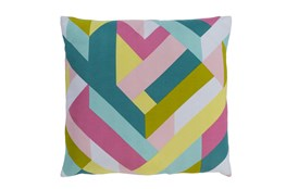Accent Pillow-Seraphina Woven Geo Bright Multi 22X22