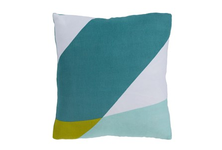 Accent Pillow-Color Block Aqua/Green 18X18