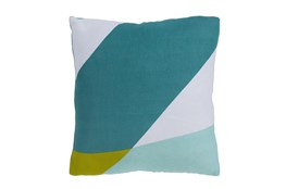 Accent Pillow-Color Block Aqua/Green 22X22