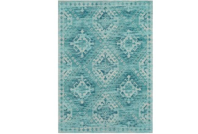 24X36 Rug-Wesley Diamond Turquoise - 360
