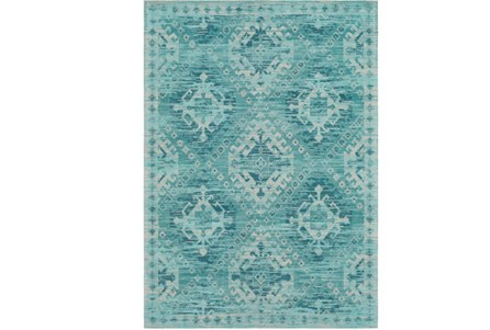 60X90 Rug-Wesley Diamond Turquoise