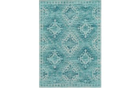 60X90 Rug-Wesley Diamond Turquoise - Main