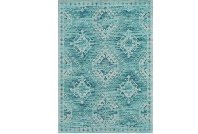 60X90 Rug-Wesley Diamond Turquoise - 360