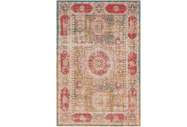 96X120 Rug-Wesley Distressed Spice - 360