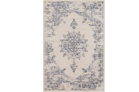 63X90 Rug-Adia Medallion Blue