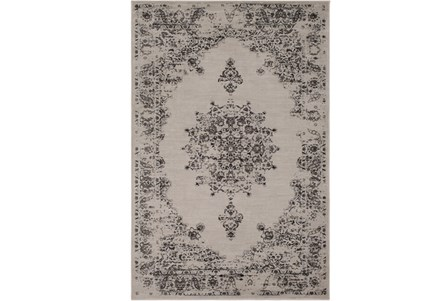 94X126 Rug-Adia Medallion Charcoal