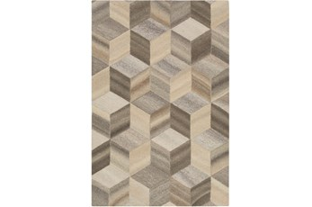 24X36 Rug-Geo Woven Natural Wool