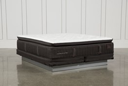 Baywood Lux Cushion Firm Euro Pillow Top Eastern King Mattress W/Low Profile Foundation