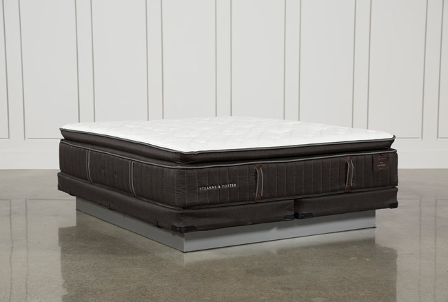 Baywood Lux Cushion Firm Euro Pillow Top Eastern King Mattress W/Low Profile Foundation - 360