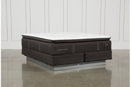 Baywood Luxury Cushion Firm Euro Pillow Top Cal King Mattress W/Foundation - Main