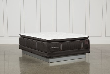 Trailwood Lux Plush Euro Pillow Top Queen Mattress W/Low Profile Foundation