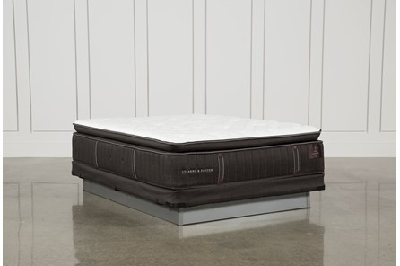 Trailwood Lux Plush Euro Pillow Top Queen Mattress W/Low Profile Foundation - Main
