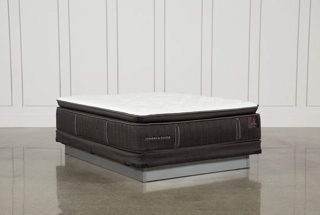 Trailwood Lux Plush Euro Pillow Top Queen Mattress W/Low Profile Foundation - 360