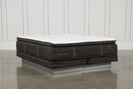 Trailwood Lux Plush Euro Pillow Top Cal King Mattress W/Low Profile Foundation
