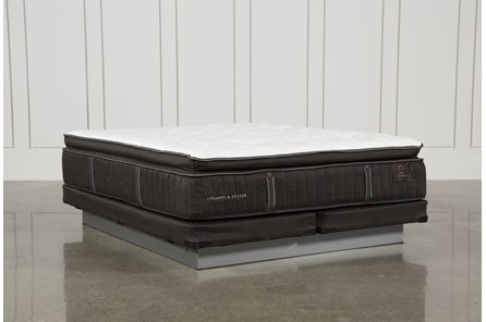 Trailwood Lux Plush Euro Pillow Top Cal King Mattress W/Low Profile Foundation - Main