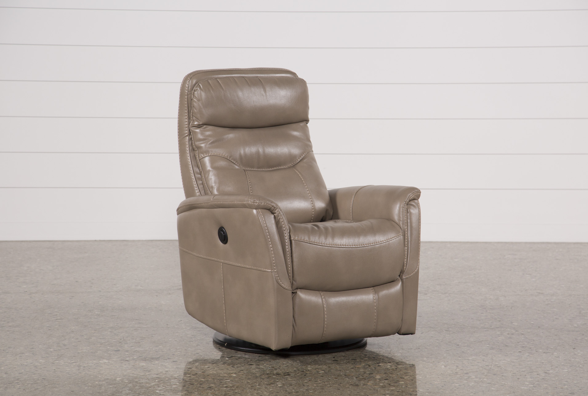 Gannon Linen Power Swivel Recliner W/Built In Battery (Qty: 1) Has Been  Successfully Added To Your Cart.