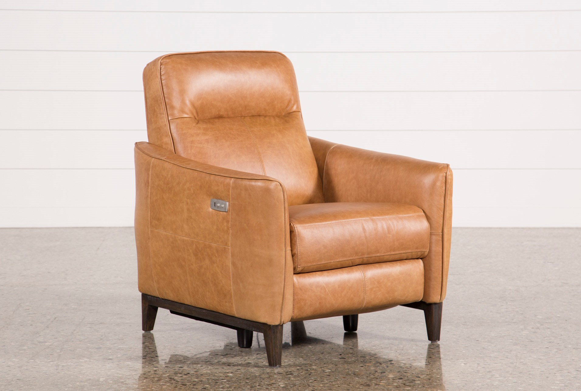 Torben Brown Leather Power Recliner W Usb Qty 1 Has Been Successfully Added To Your Cart