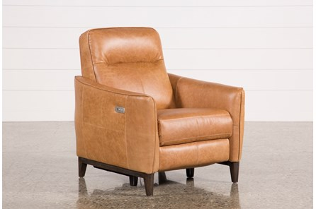 Torben Brown Leather Power Recliner W/Usb - Main