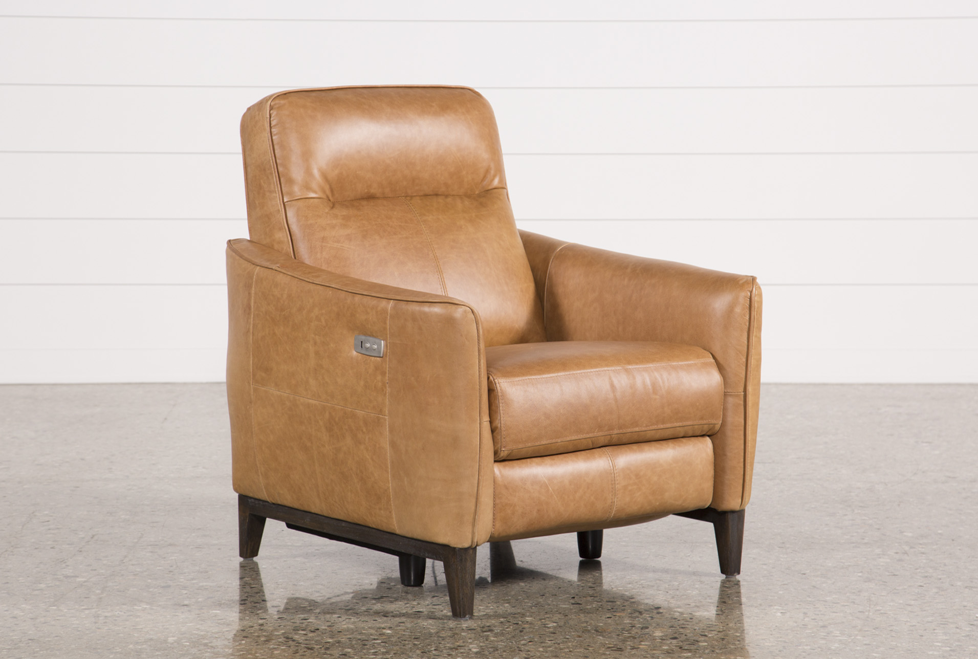 Torben Brown Leather Power Recliner W/Usb (Qty: 1) Has Been Successfully  Added To Your Cart.