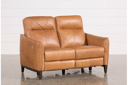 Torben Brown Leather Power Reclining Loveseat W/Usb - Main