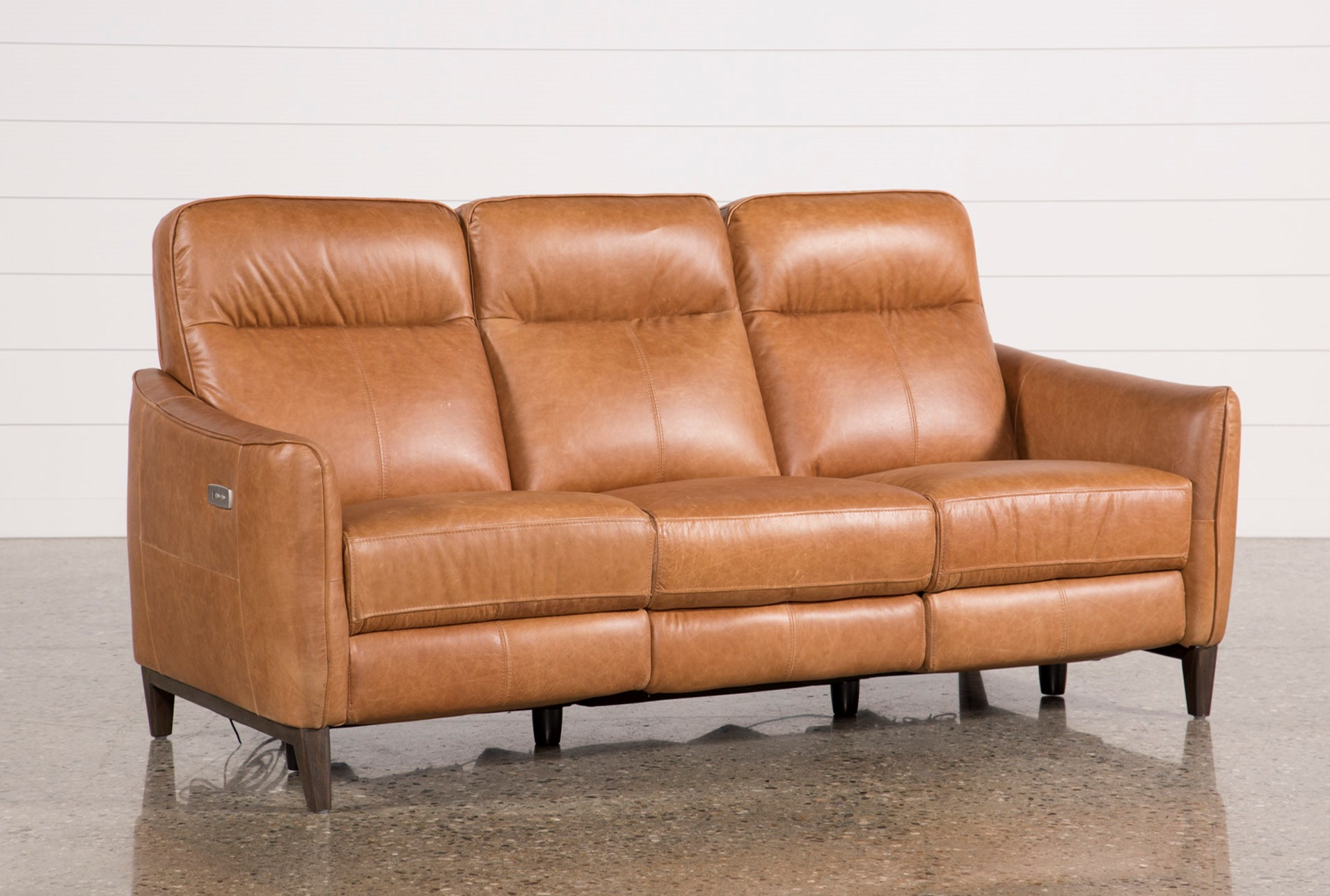 Torben Brown Leather Reclining Sofa W Usb Qty 1 Has Been Successfully Added To Your Cart