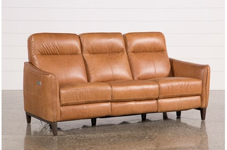 Torben Brown Leather Power Reclining Sofa W/Usb - Main