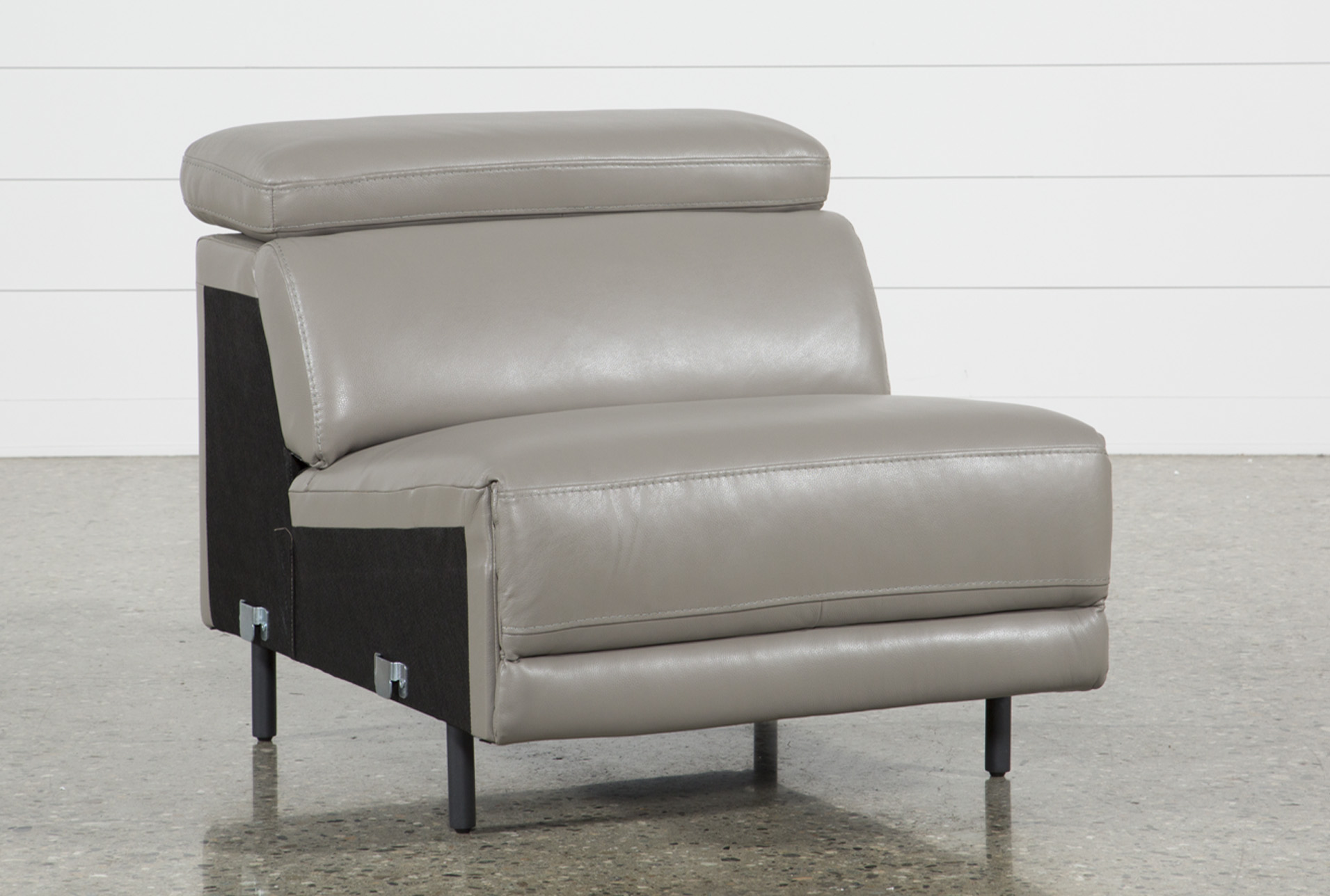 Thatcher Grey Leather Armless Chair (Qty: 1) Has Been Successfully Added To  Your Cart.
