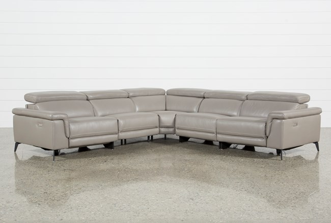 Thatcher Grey 5 Piece Sectional - 360