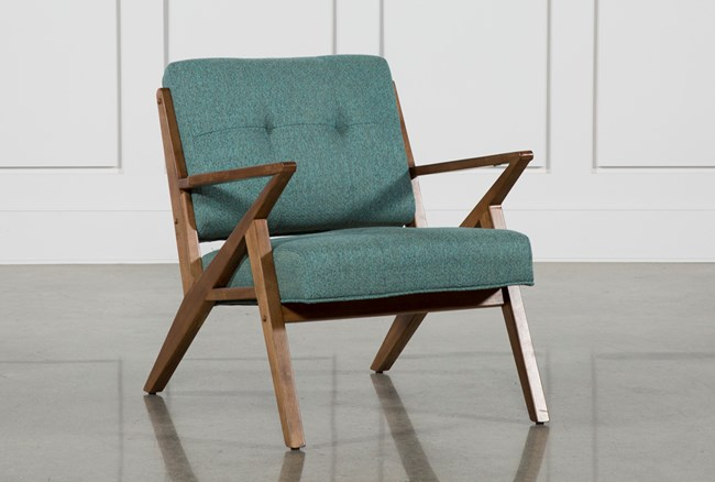 Aldo Teal Accent Chair - 360
