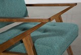 Aldo Teal Accent Chair - Right