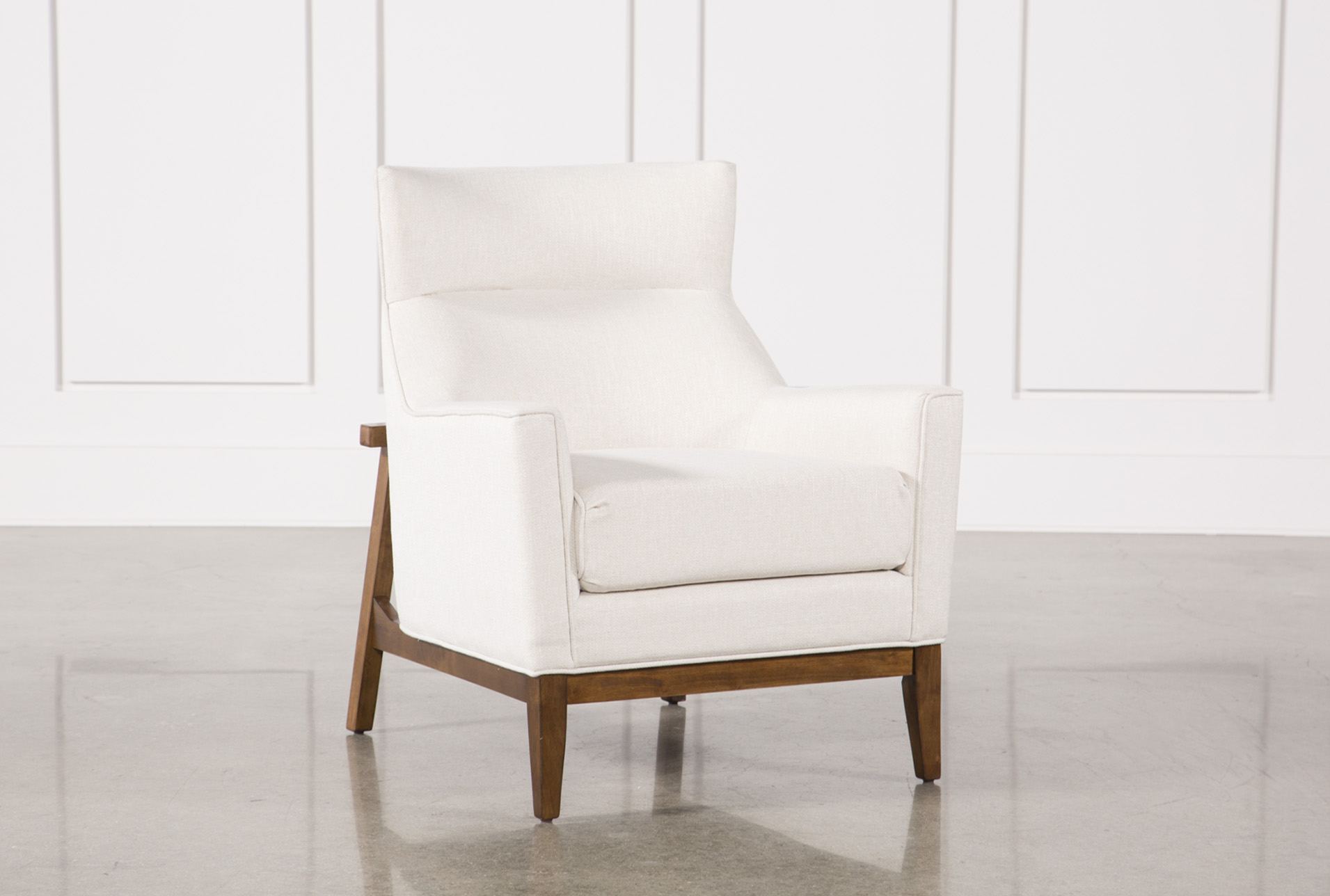Benson Ivory Accent Chair Living Spaces