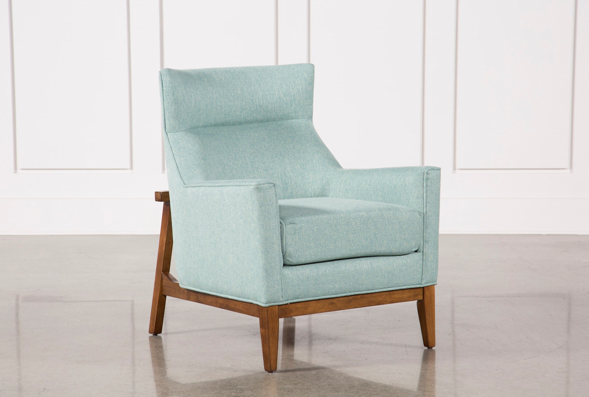 Benson Teal Accent Chair Living Spaces
