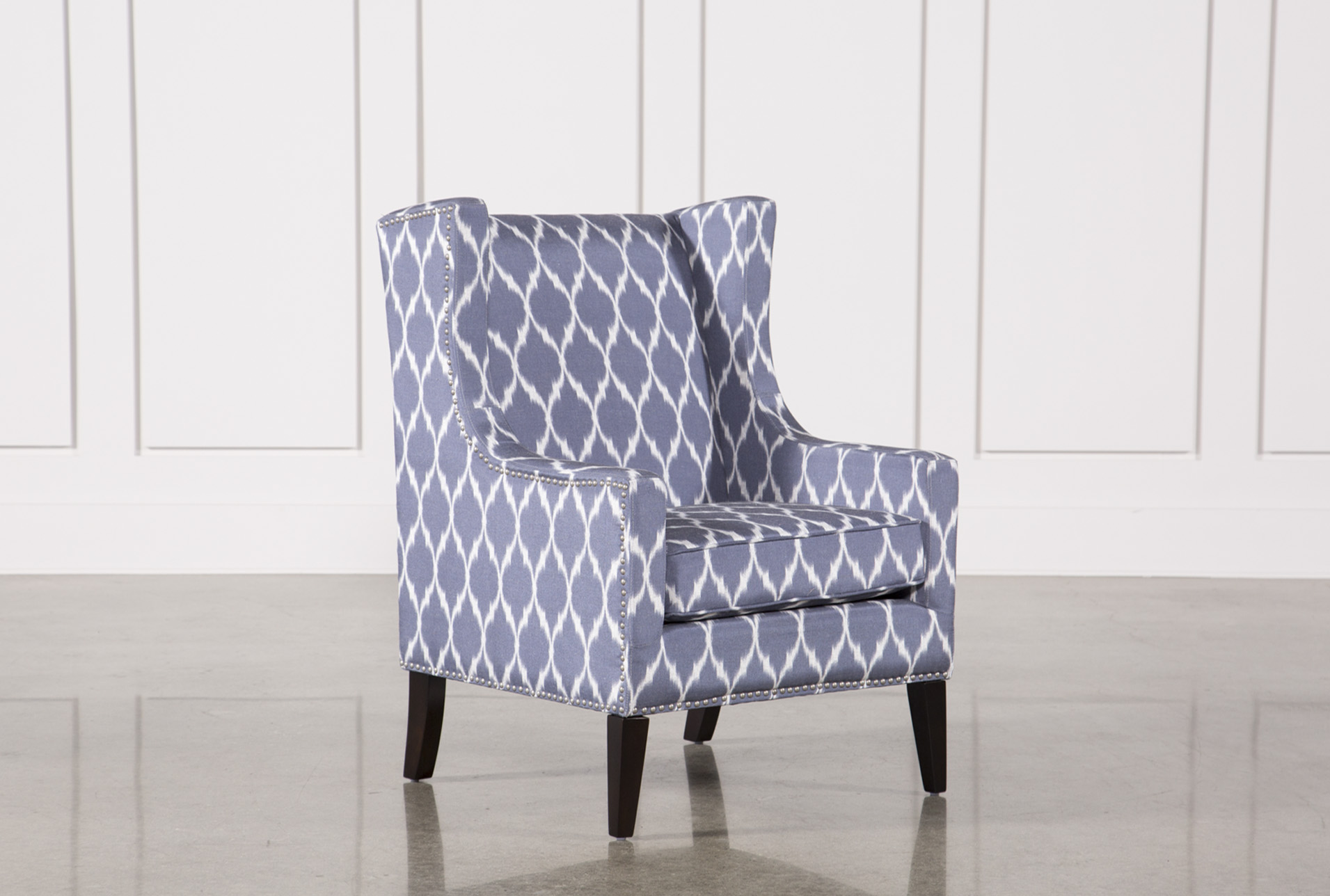 Cabot Blue Accent Chair   360