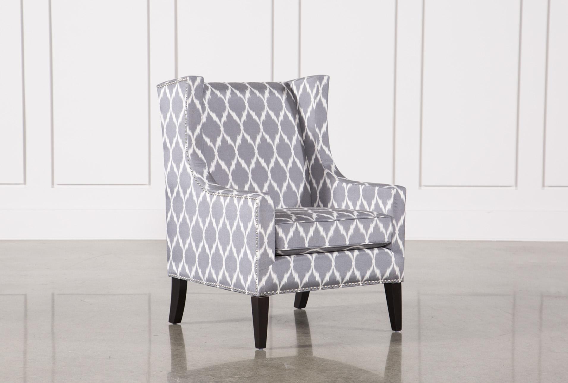 Unique Grey Accent Chair Model
