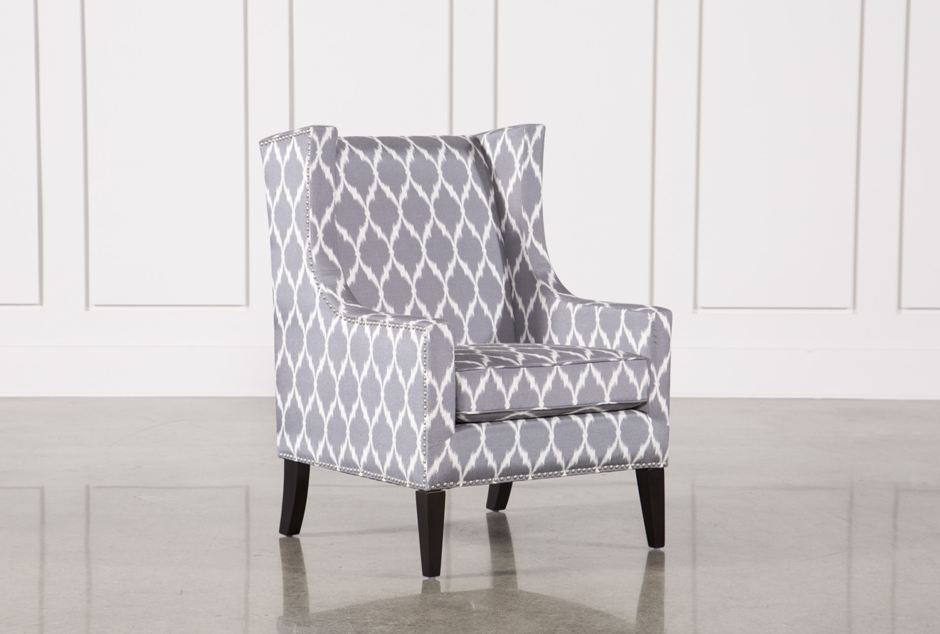Cabot Grey Accent Chair (Qty: 1) Has Been Successfully Added To Your Cart.