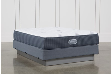 Palm Springs Luxury Firm Queen Mattress W/Foundation - Main