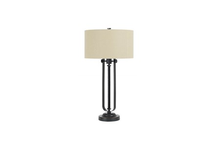 30 Inch Black Antique Bronze Industrial Pipes Table Lamp - Main
