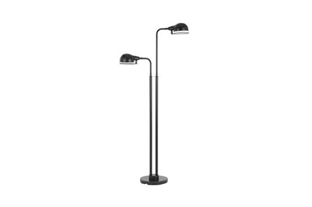Floor Lamp-Industrial Springs 2-Arm