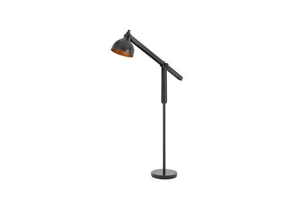 Floor Lamp-Black And Gold Industrial
