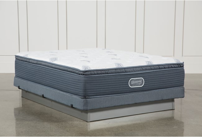 Palm springs plush pillow top queen mattress w low profile for Plush pad palm springs