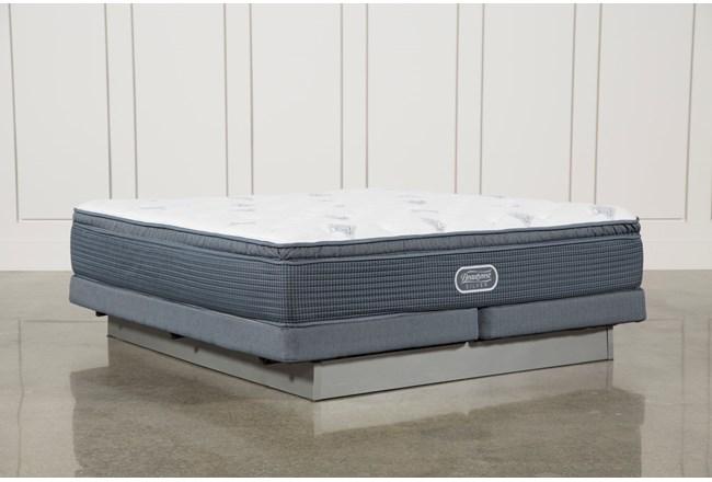 Palm springs plush pillow top cal king mattress w low for Plush pad palm springs