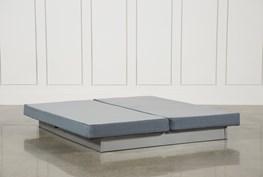 Silver Eastern King Split Low Profile Foundation Set