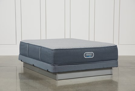 Ventura Plush Queen Mattress W/Low Profile Foundation