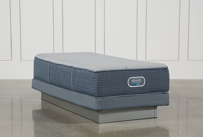 Victory Firm Twin Extra Long Mattress W/Low Profile Foundation - 360