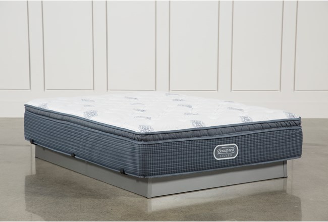 Palm springs plush pillow top queen mattress living spaces for Plush pad palm springs
