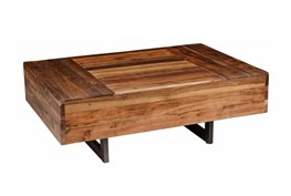 Reclaimed Elm & Iron Coffee Table
