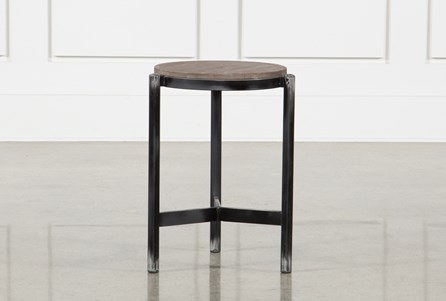 18 Inch Black Iron Side Table