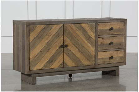 Aged Pine 3-Drawer/2-Door Sideboard